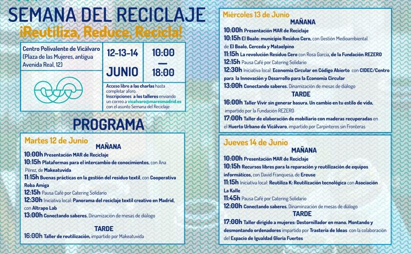 ¡Presentamos el CIDEC en la Semana de Reciclaje  de Madrid(MARES)!